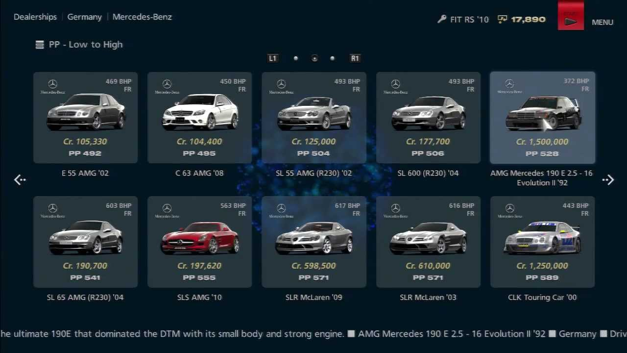 Gran Turismo Dealership All Cars YouTube - All bmw cars list