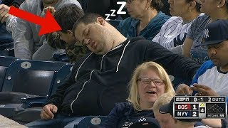 MLB Fans falling Asleep (HD)