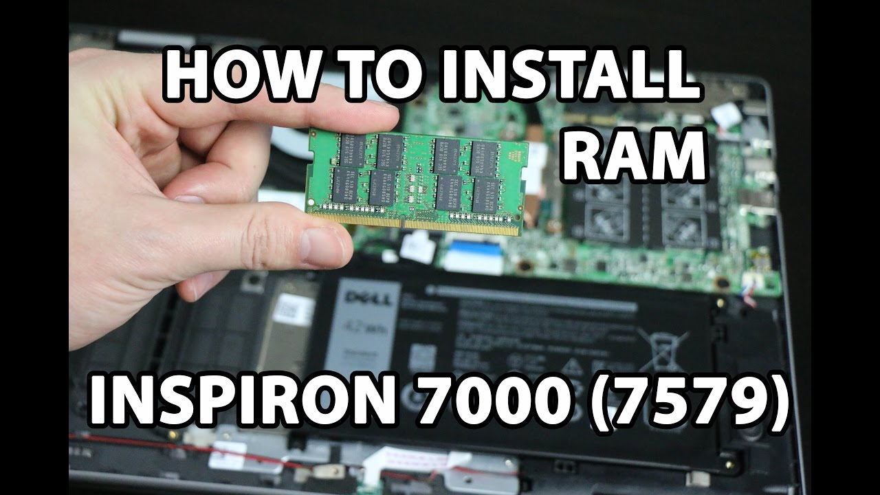 How to install RAM Dell Inspiron 15 7000(7579) 2-in-1 laptop