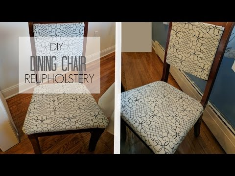 HOW TO REUPHOLSTER A CHAIR AND BACK DIY TUTORIAL | HIP 'N CREATIVE