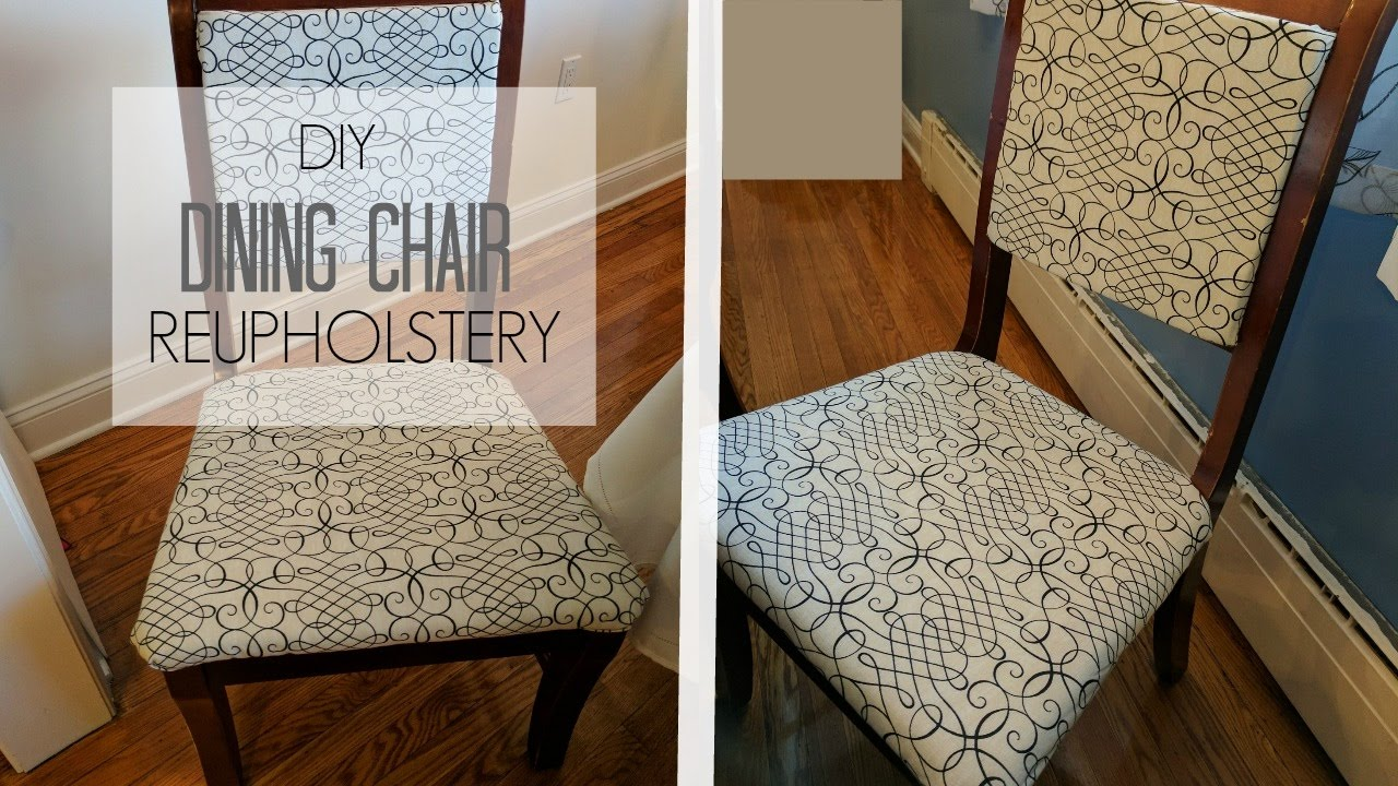 HOW TO REUPHOLSTER A CHAIR AND BACK DIY TUTORIAL | HIP u0027N CREATIVE & HOW TO REUPHOLSTER A CHAIR AND BACK DIY TUTORIAL | HIP u0027N CREATIVE ...