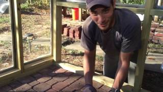 DIY Greenhouse Project * Floor & Roof * Day 8