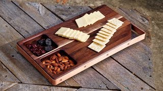 Walnut and Copper Cutting Board / Serving Board | How To Build - Woodworking