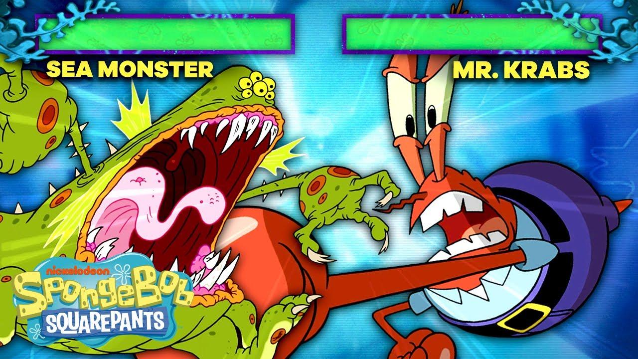 Download Mr. Krabs Joins the Battle Video Game Arena! 🦀🥊 SpongeBob SquareOff