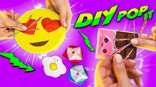 DIY АНТИСТРЕСС POP IT! ЕЩЕ 4 способа ПОП ИТ ИГРУШЕК! Из бумаги, таблеток и конфет! 🐞 Afinka