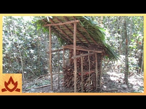 Thumbnail: Primitive Technology: Wood shed and Native bee honey