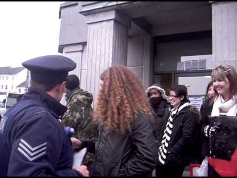 How An Gardai Siochana should treat protesters- F.E.E. protest Anglo Irish Bank Galway