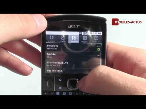 Acer BeTouch E210 - Test, démonstration, prise en main