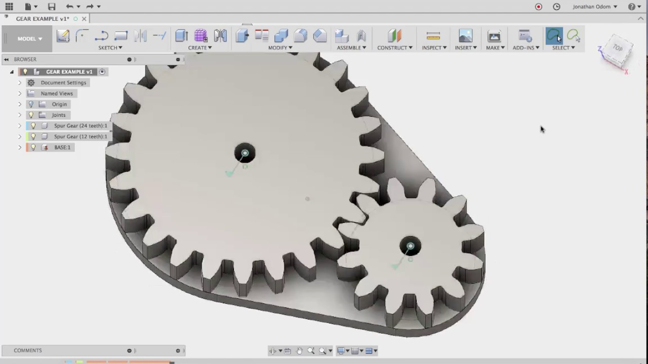 Spur Gears In Fusion 360 Youtube