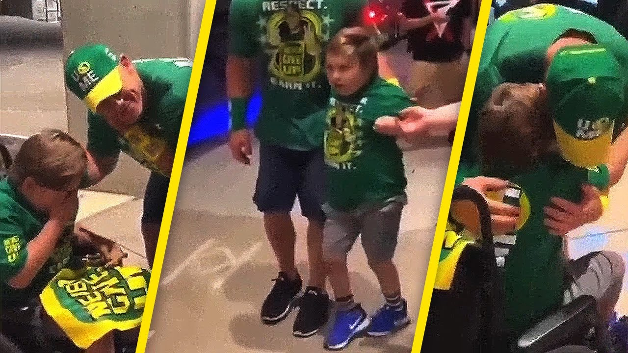 John Cena shares a special moment with his greatest fan of all time! ❤️