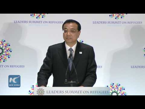 Premier Li addresses UN summit on refugee, migrant crisis