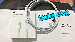 Unboxing of Apple Lightning to USB Cable(1m)