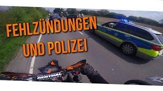 Polizei, Unfall und Fehlzündungen mit SMCR & LC4 | Motovlog