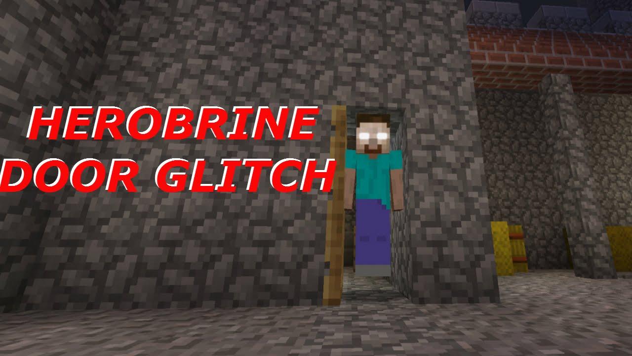 Minecraft PS3 PS4 Xbox 360 Xbox One Wii U HEROBRINE DOOR GLITCH YouTube