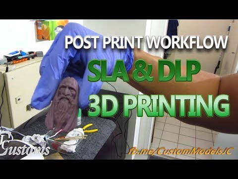 How to Clean your Resin 3D Prints post print.
