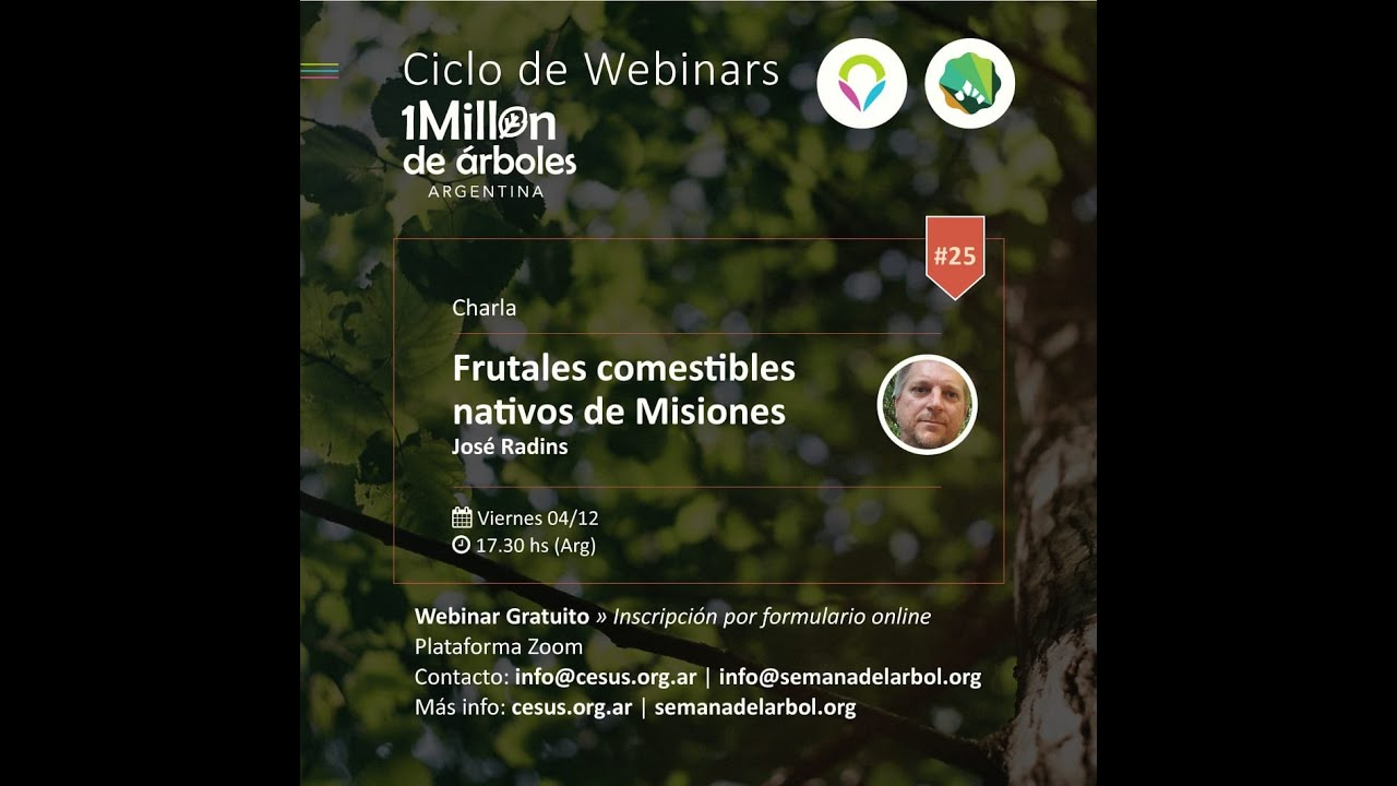 Frutales nativos de Misiones: reviví el 25° encuentro del Ciclo de Webinar