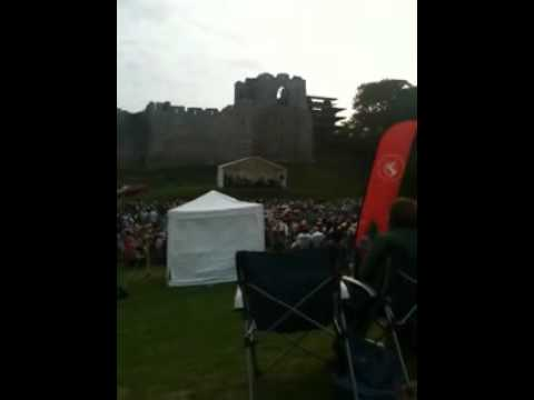 The Oystermouth Castle open-air music event 5th August 2011