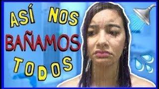 ¡TIPOS DE PERSONAS EN LA DUCHA! | ASÍ NOS BAÑAMOS TODOS ♡ Lulu99
