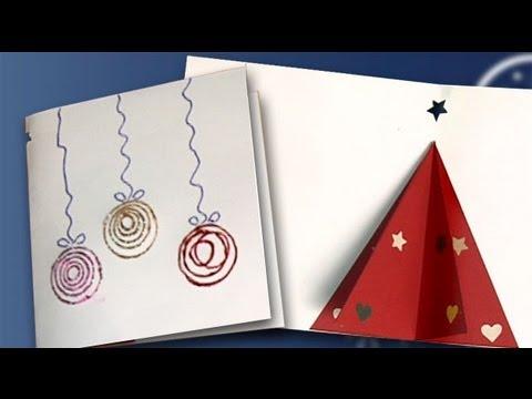 Haz una postal de navidad con un rbol en 3d manualidades - Manualidades infantiles para navidad ...