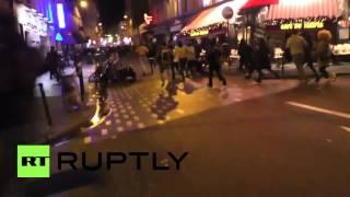 RAW: Parisians run away, some screaming, from Place de la République