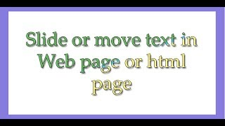 Moving text in html page in urdu hindi
