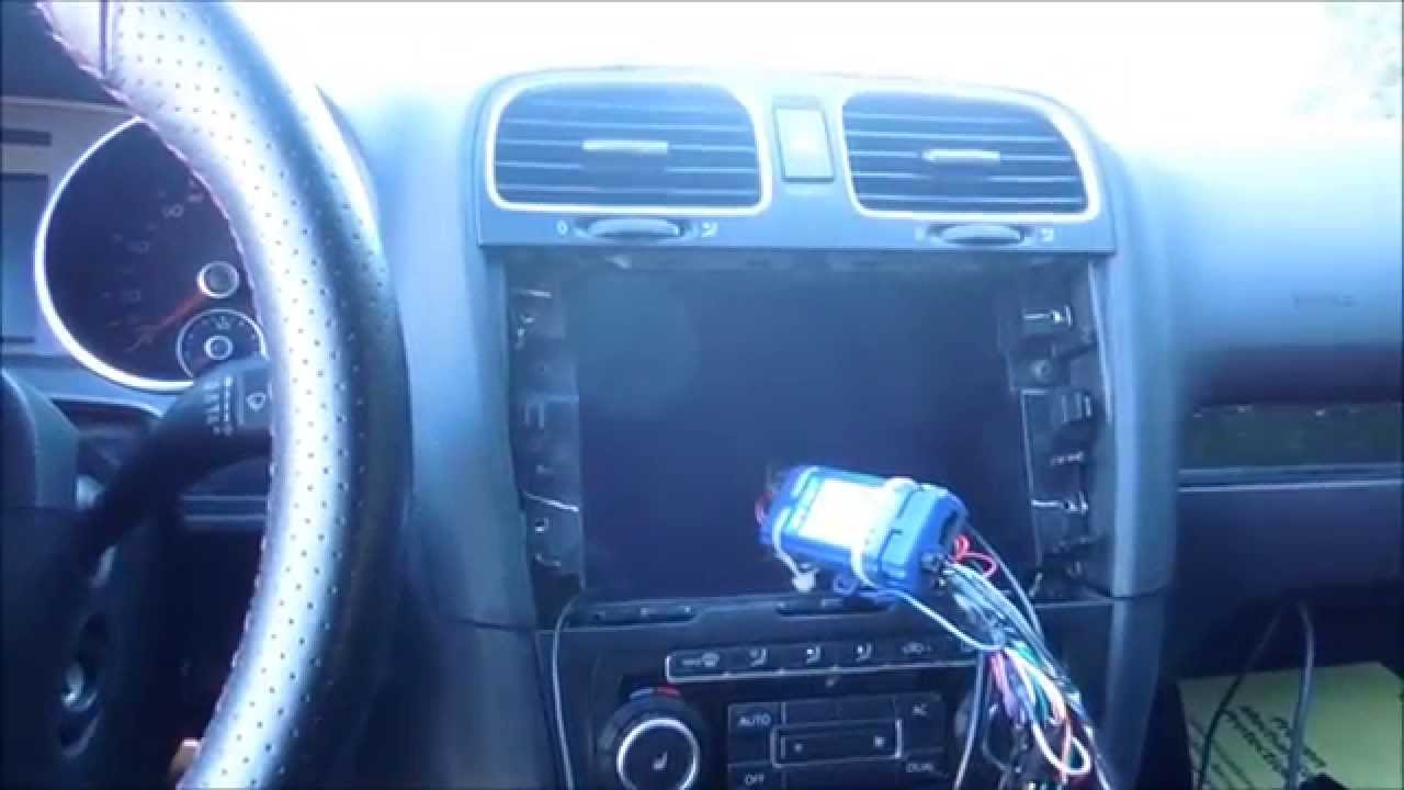 HOW TO INSTALL OR REPLACE STEREO IN VOLKSWAGEN GTI MARK 6 2011 - YouTube