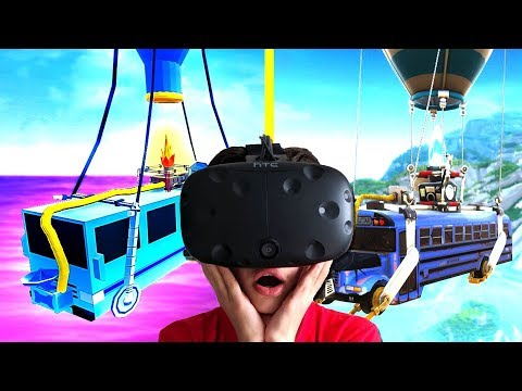 FORTNITE BATTLEBUS MAKEN IN VR !!