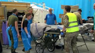 Army field hospital at Greenland LIVEX 2016