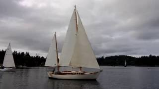 "Zoro's boat ""The Lark"" on race day"
