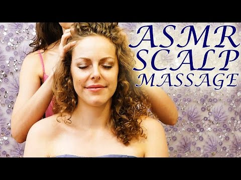 Deep Relaxation ASMR Scalp & Head Massage - Whisper & Hair Play Binaural