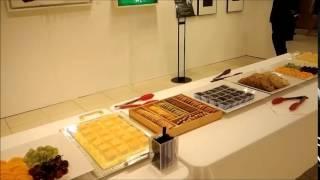 롯데백화점 분당점 미술전시회 커피다과케이터링