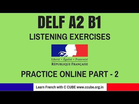DELF A2 B1 Listening Comprehension exercises practice online