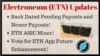 ETN Updates: Pending Balance Payouts, ASIC Miner, ETN App Future Enhancement [ Hindi ] - Sourav Roy