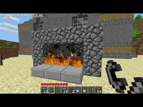 Minecraft - Fireplace - YouTube