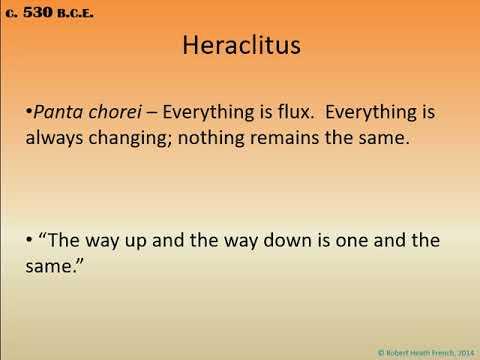Philosophy Lecture Series, Video 19: Pre-Socratic Ancient Greek Philosophy, esp.  Parmenides