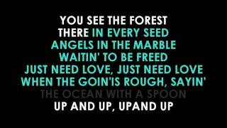 Coldplay Up And Up karaoke | GOLDEN KARAOKE