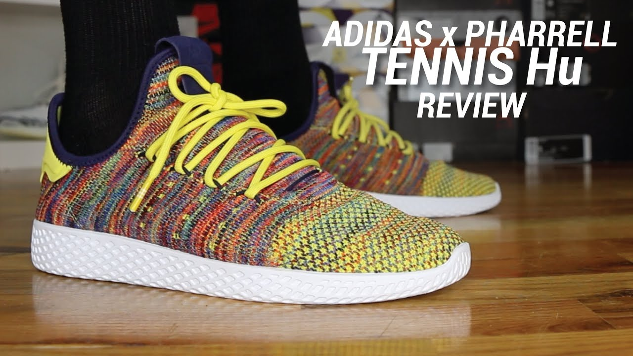 045551e5710 ADIDAS PHARRELL WILLIAMS TENNIS HU MULTICOLOR REVIEW - YouTube