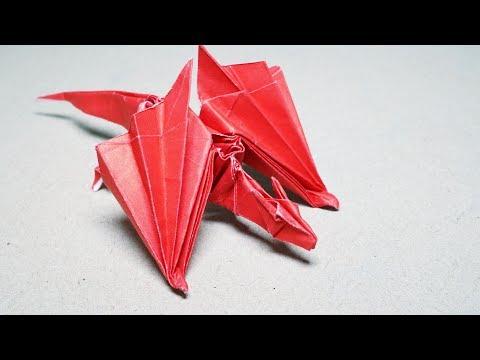 Origami Dragon Nargacuga (Saku) - Paper Folding / Papier Falten / 종이접기 - Paper Crafts 1101 おりがみ
