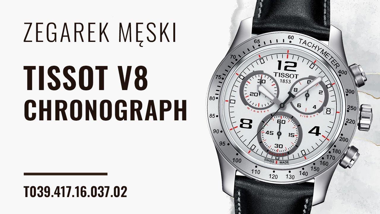 Zegarek Tissot V8 Chronograph T039 417 16 037 02 Zegarownia Pl