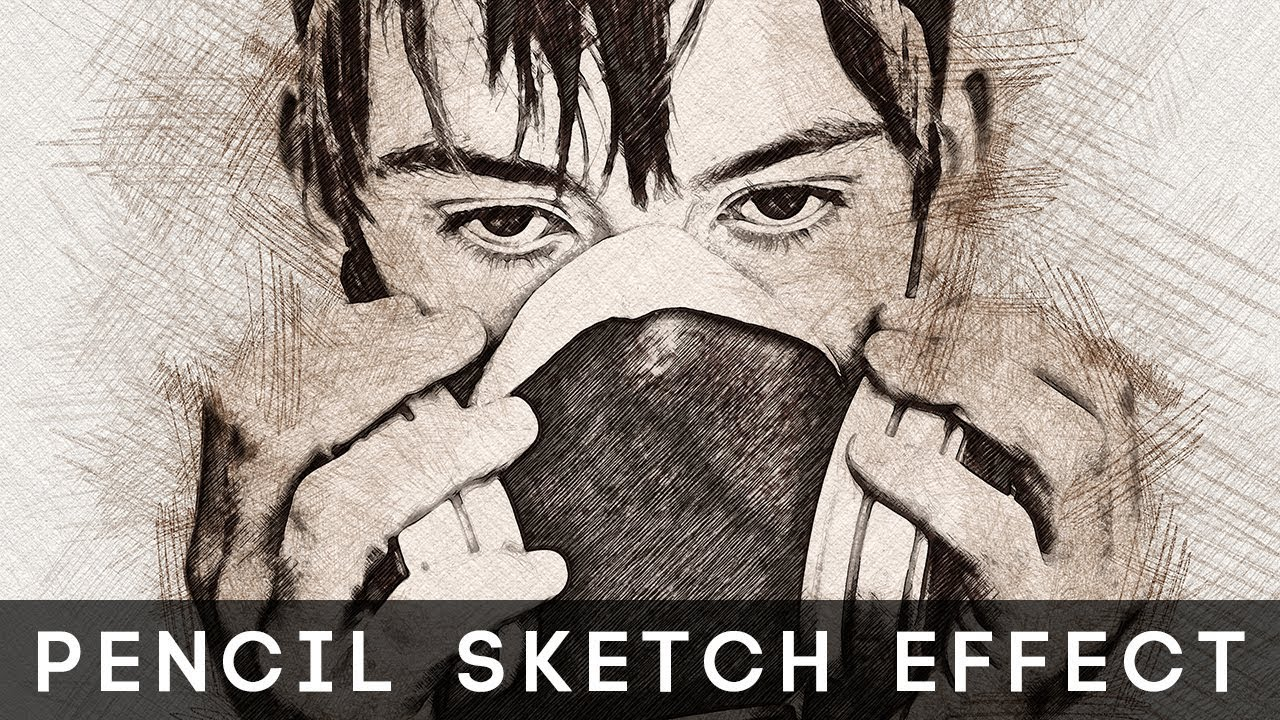 Photoshop tutorial pencil sketch photoshop effect in few clicks