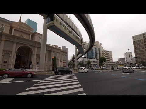 【4K】Walking from Chiba station to Chiba port park