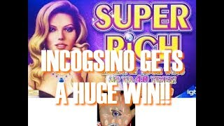 Incogsino Plays Super Rich Slot cashes out with a HUGE WIN!!