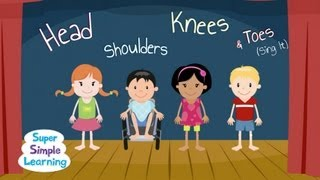 Kijk Head shoulders Knees and Toes (sing) filmpje