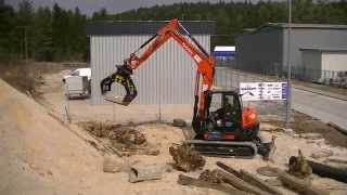 Grapple rotary movement MB-G600 at work!