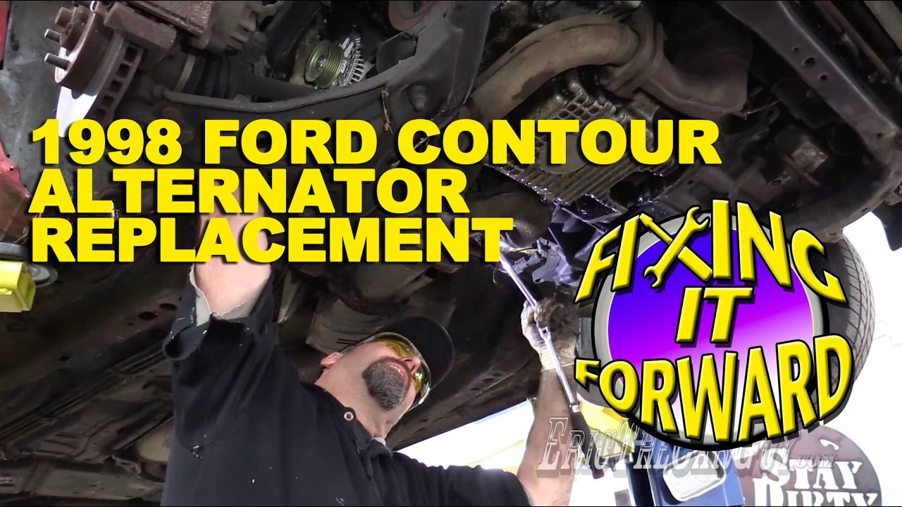 1998 Ford Contour Alternator Replacement Fixingitforward Youtube 3 Wire Voltage Diagram