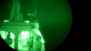 mini gun on tank shooting at night Full Automatic military