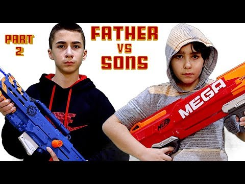Nerf War: Father Vs Sons Part 2 And The Nerf REVREAPER