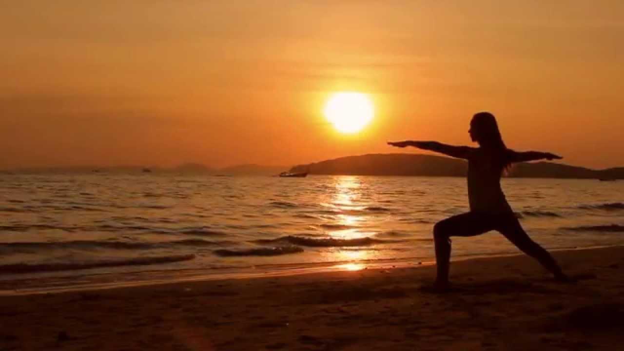Beach Sunset Yoga Hd Background Video Youtube