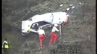 Wypadek Krzysztofa Hołowczyca na Rajdzie RAC 1997