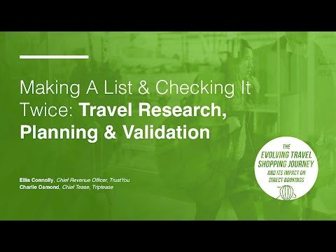 Making a List and Checking It Twice: Travel Research, Planning and Validation (2/4)